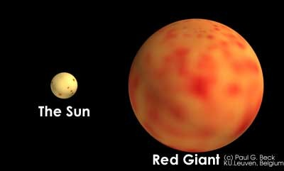 red giant star compared to sun - photo #5