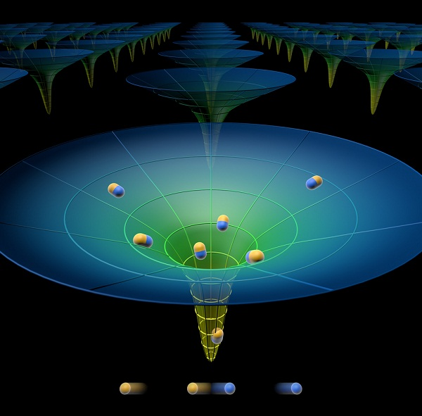 Artist's depiction of the solar energy funnel for broad spectrum capability (Credit: Yan Liang/MIT)