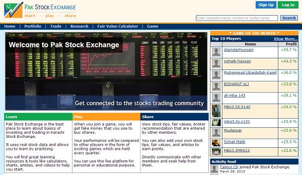 Stock exchange trading pakistan