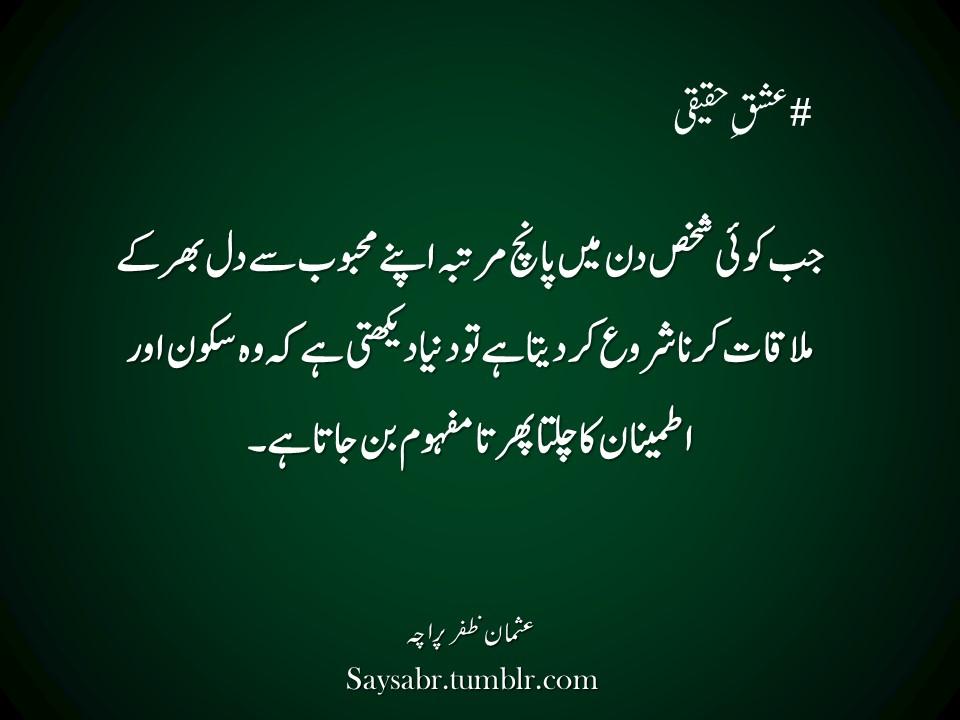 Ishq-e-haqeeqi (Urdu quote) | SayPeople